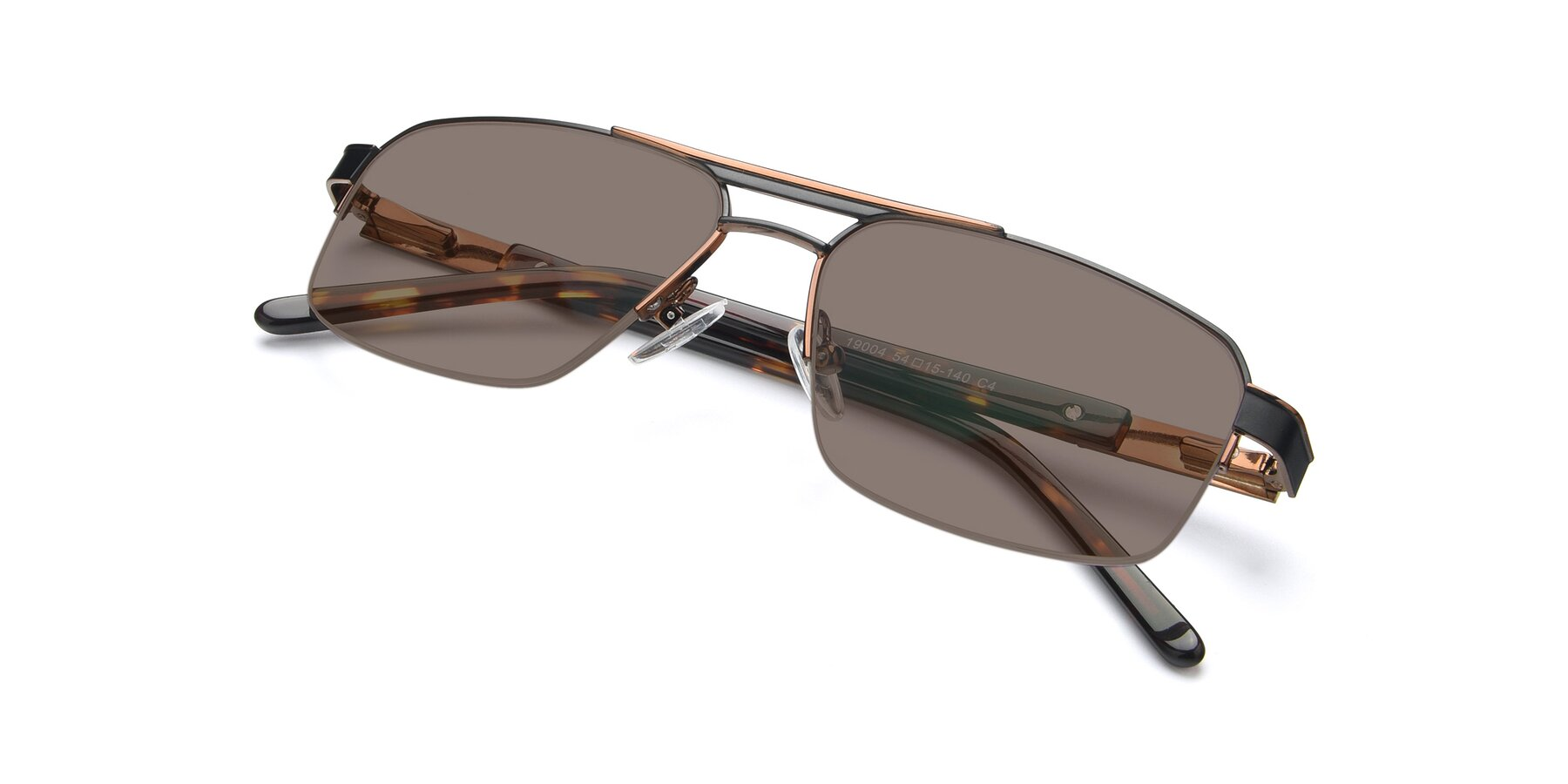 View of 19004 in Black-Bronze with Medium Brown Tinted Lenses