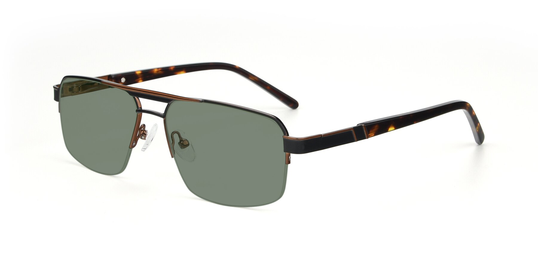 Angle of 19004 in Black-Bronze with Medium Green Tinted Lenses