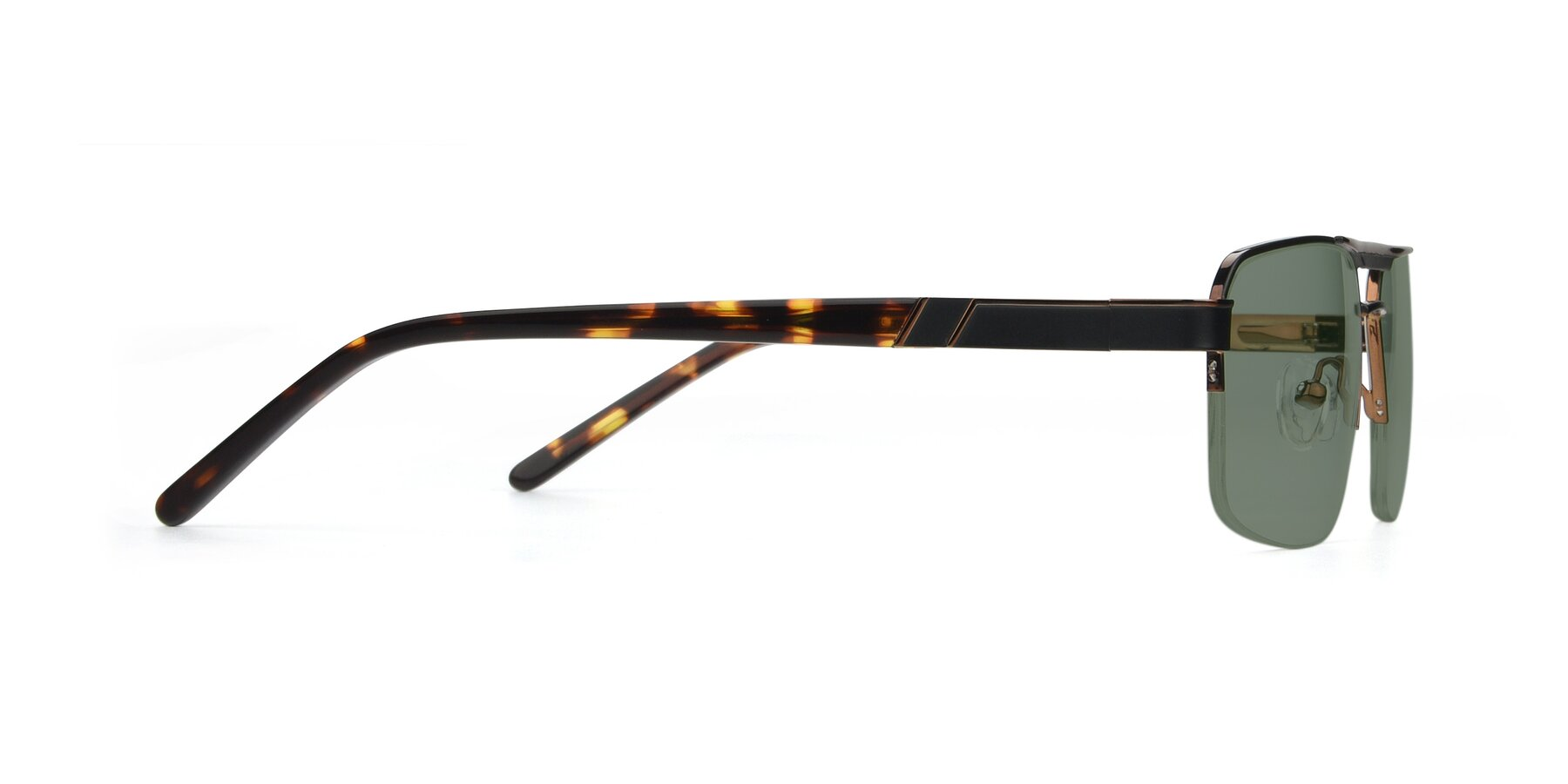 Side of 19004 in Black-Bronze with Medium Green Tinted Lenses