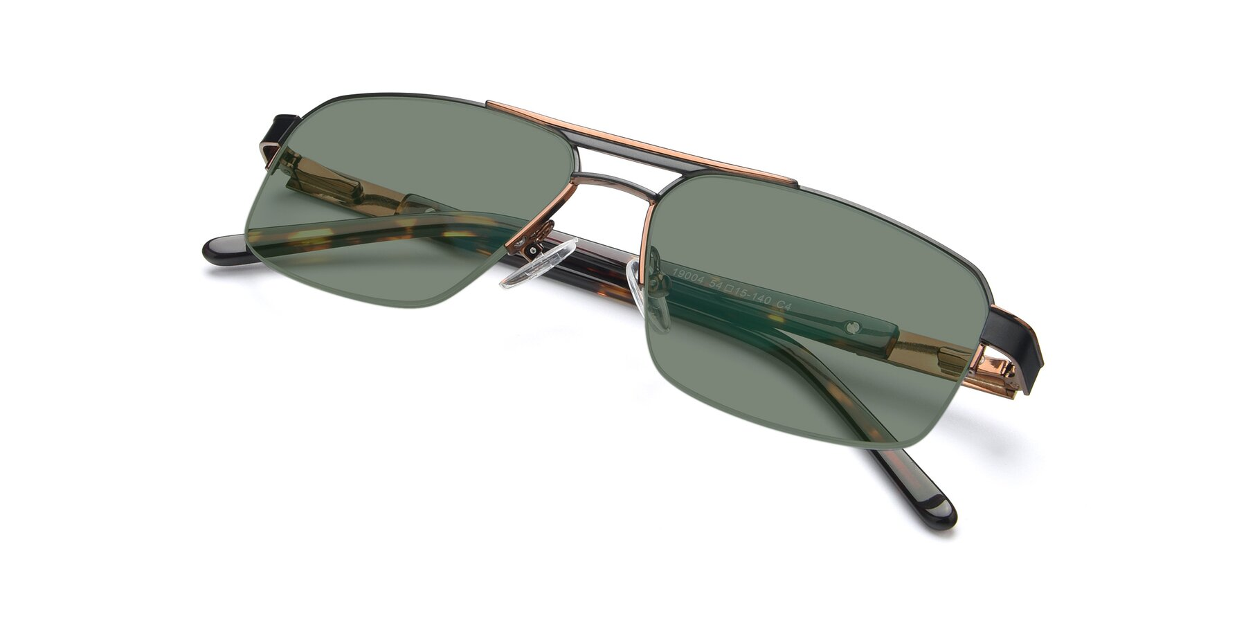 View of 19004 in Black-Bronze with Medium Green Tinted Lenses