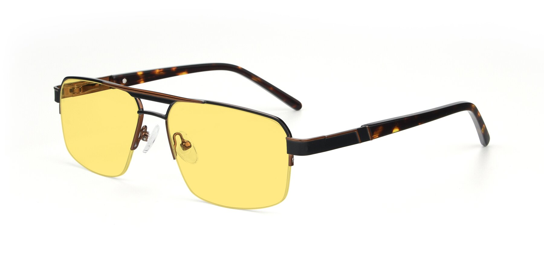 Angle of 19004 in Black-Bronze with Medium Yellow Tinted Lenses