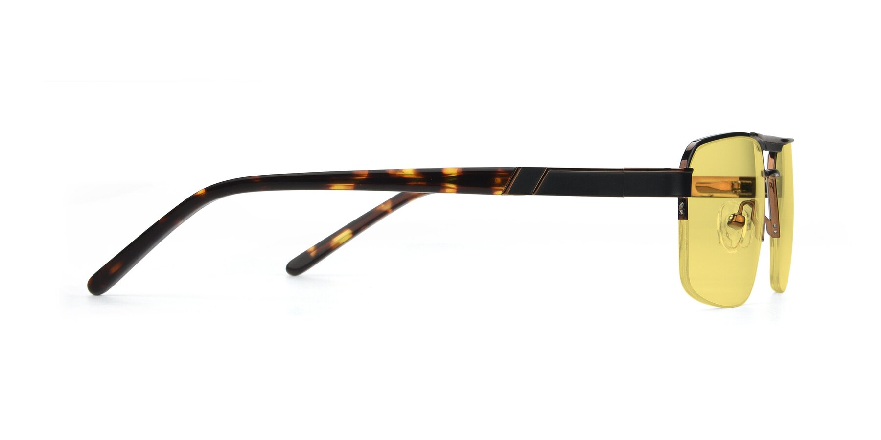 Side of 19004 in Black-Bronze with Medium Yellow Tinted Lenses