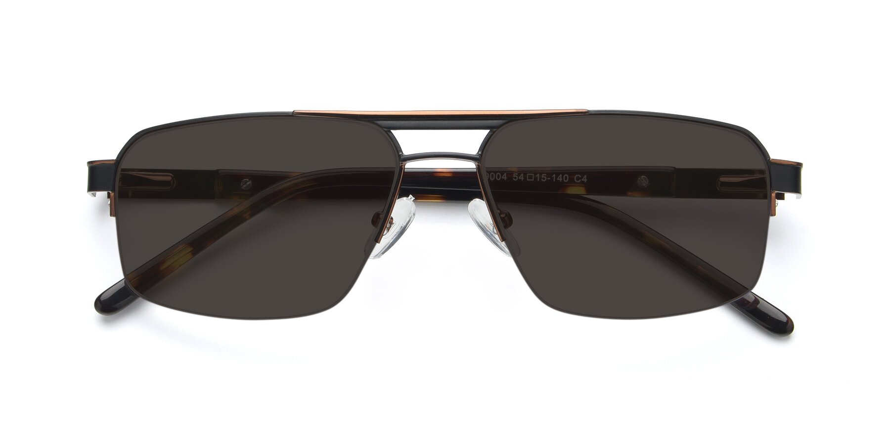 Folded Front of 19004 in Black-Bronze with Gray Tinted Lenses