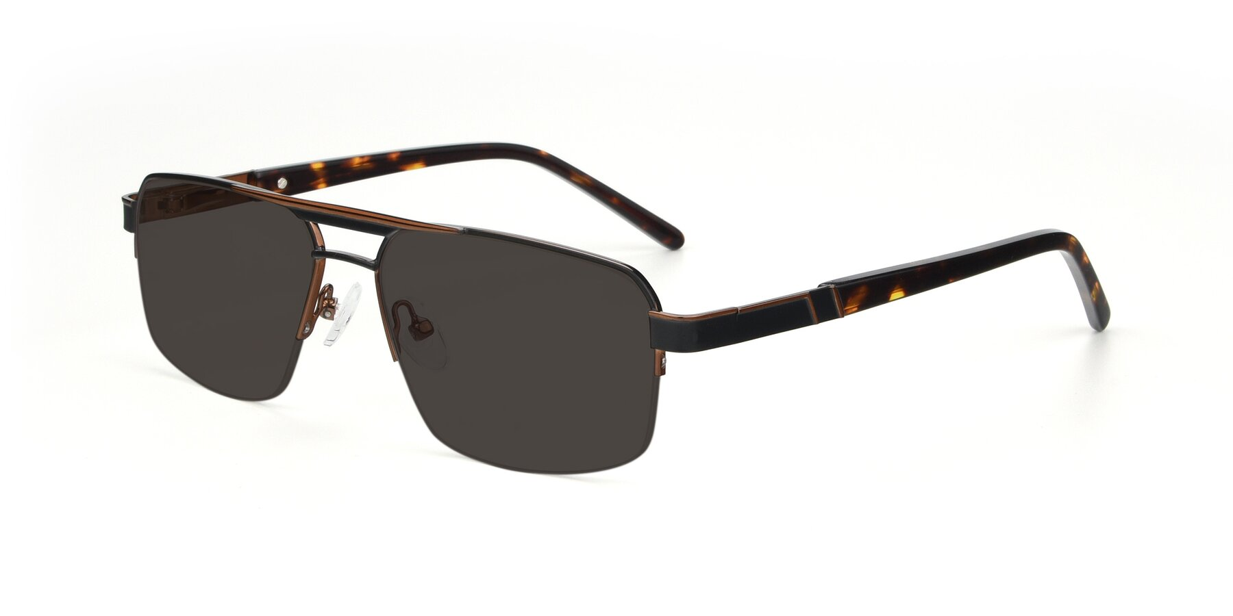 Angle of 19004 in Black-Bronze with Gray Tinted Lenses