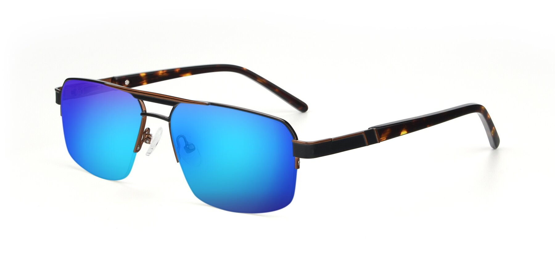 Angle of 19004 in Black-Bronze with Blue Mirrored Lenses