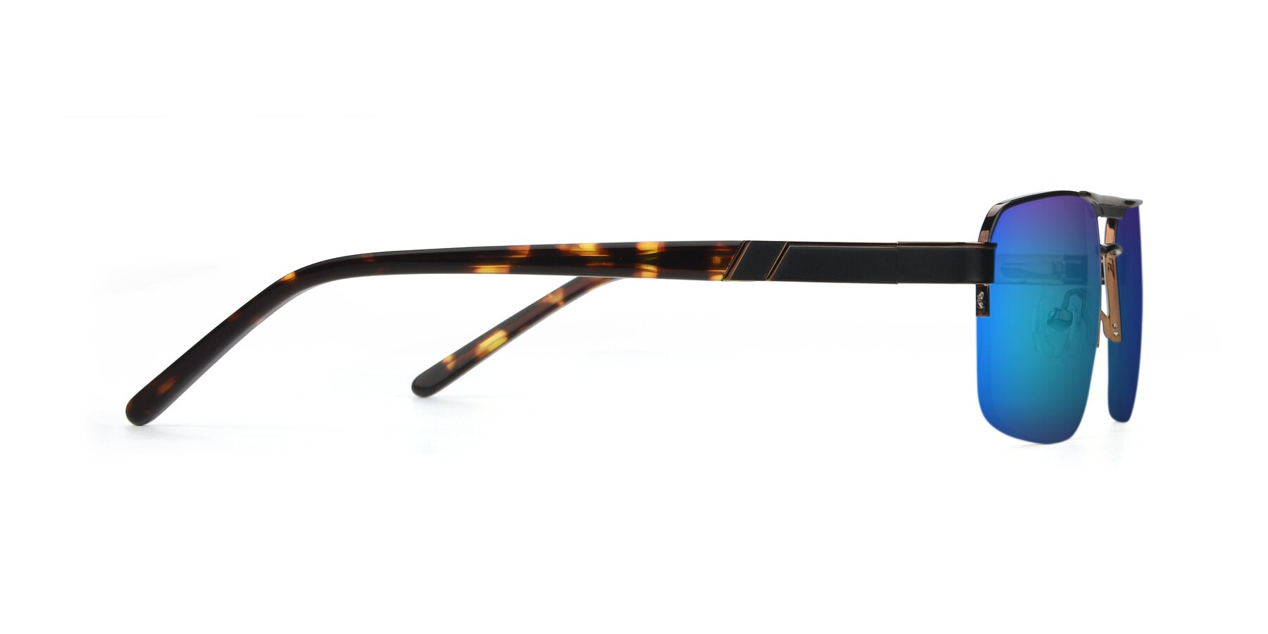 Side of 19004 in Black-Bronze with Blue Mirrored Lenses