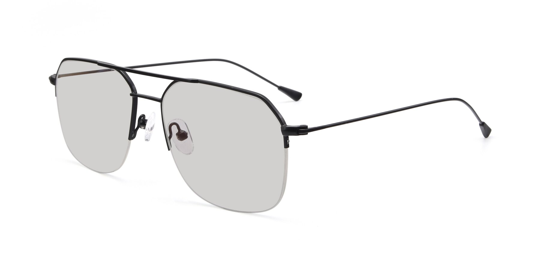 Angle of 9434 in Matte Black with Light Gray Tinted Lenses