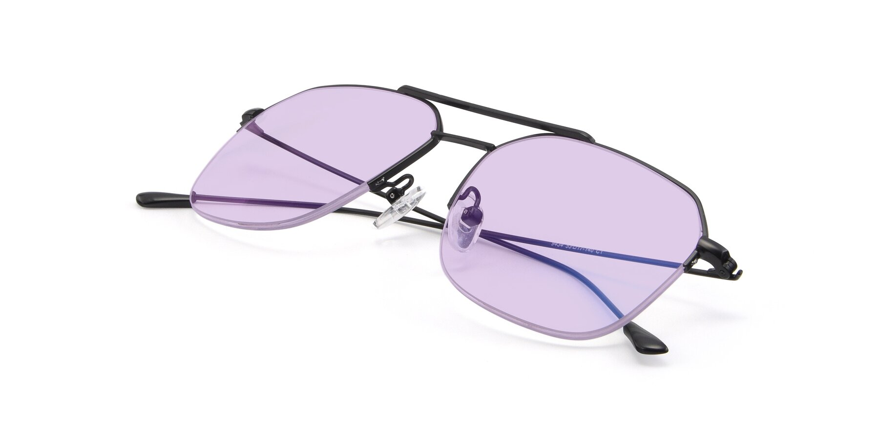 View of 9434 in Matte Black with Light Purple Tinted Lenses