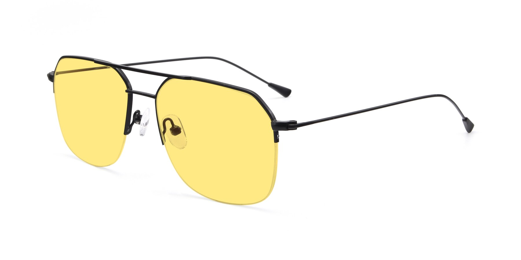 Angle of 9434 in Matte Black with Medium Yellow Tinted Lenses