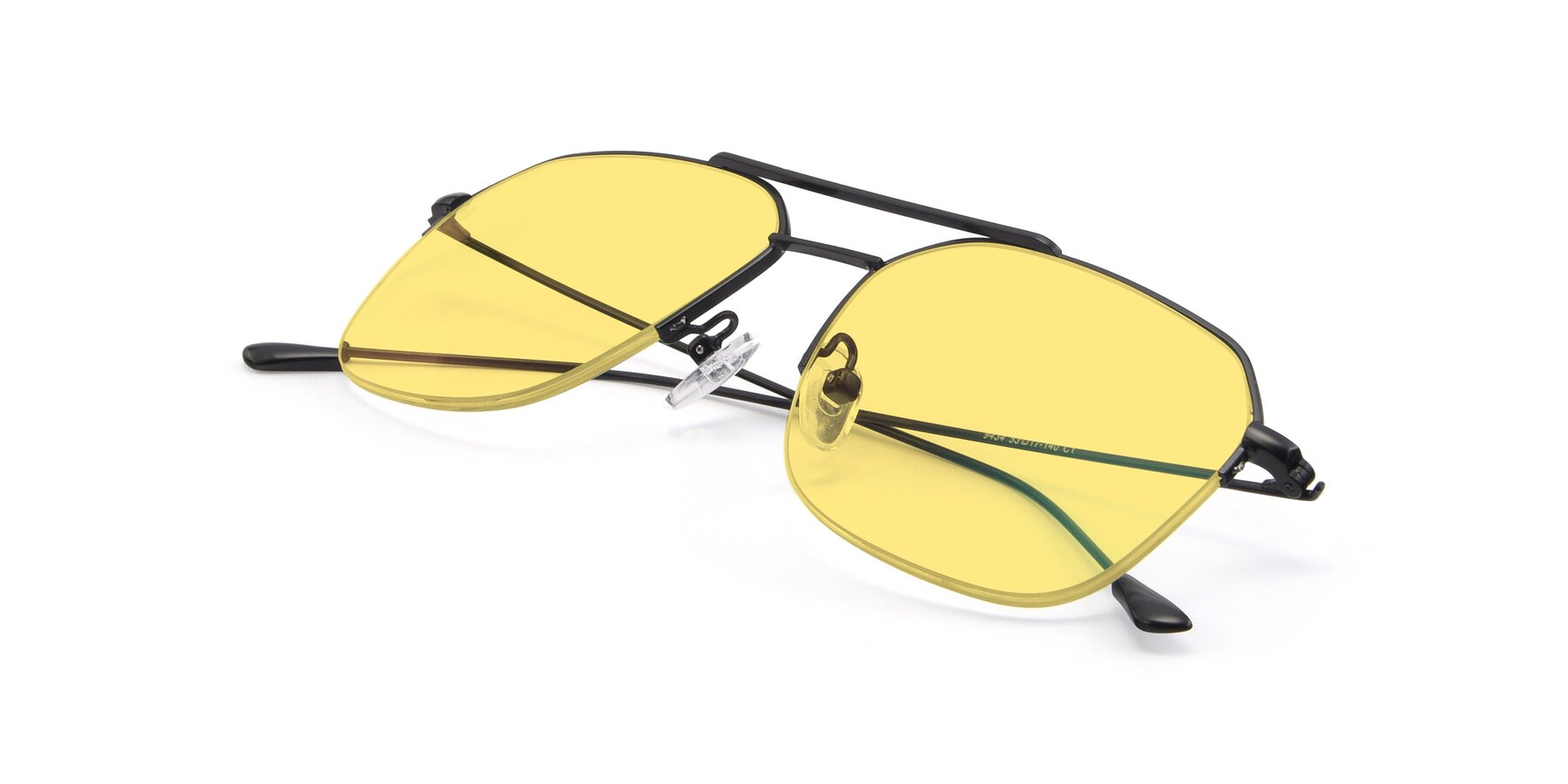 View of 9434 in Matte Black with Medium Yellow Tinted Lenses