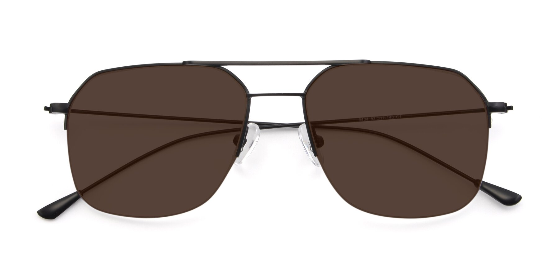 Folded Front of 9434 in Matte Black with Brown Tinted Lenses