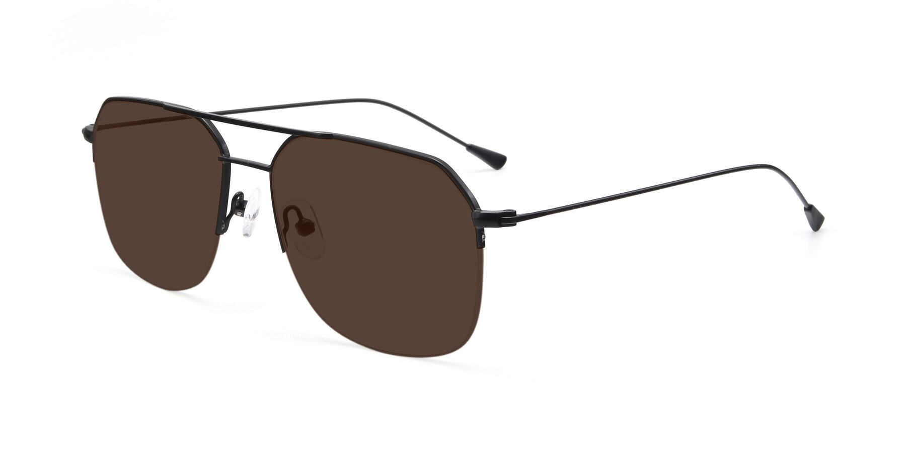 Angle of 9434 in Matte Black with Brown Tinted Lenses