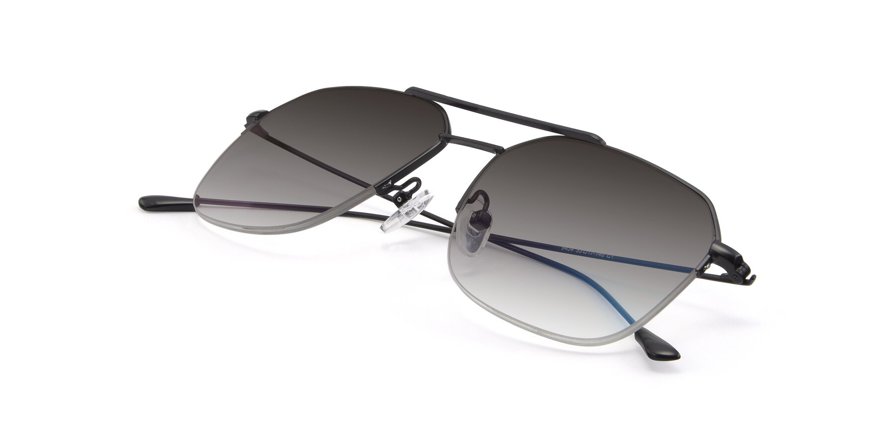 View of 9434 in Matte Black with Gray Gradient Lenses