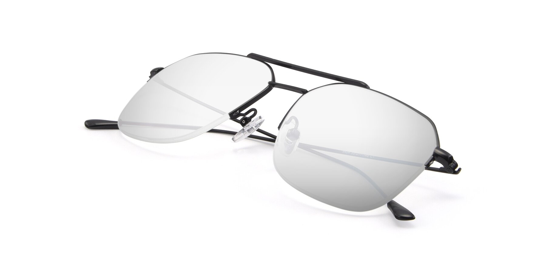 View of 9434 in Matte Black with Silver Mirrored Lenses