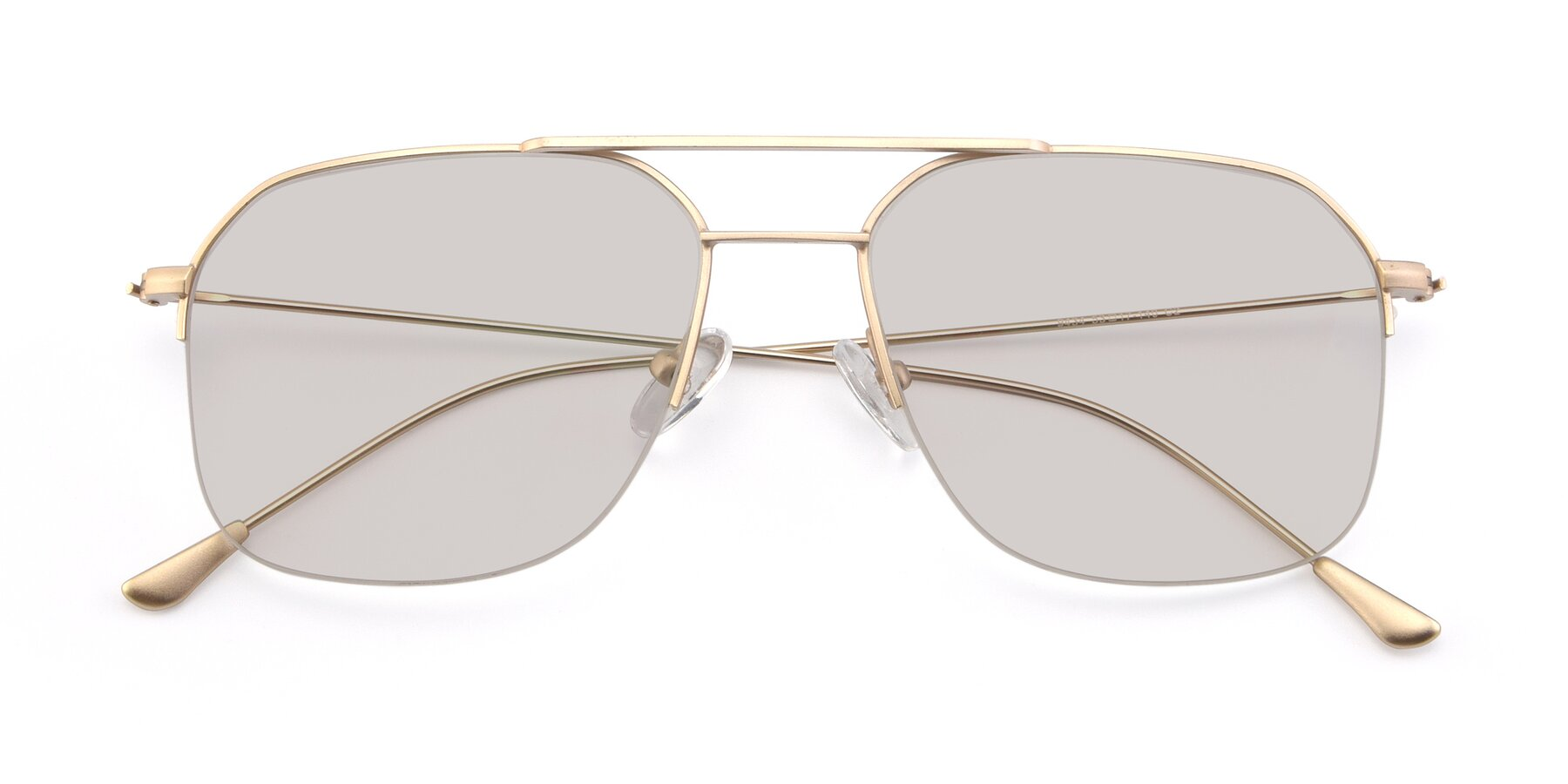 Folded Front of 9434 in Jet Gold with Light Brown Tinted Lenses