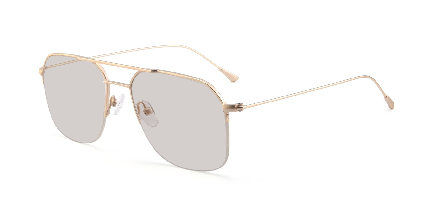 Angle of 9434 in Jet Gold with Light Brown Tinted Lenses