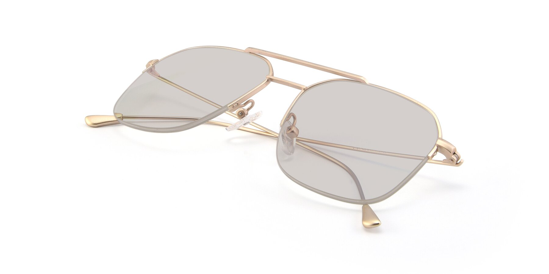 View of 9434 in Jet Gold with Light Brown Tinted Lenses