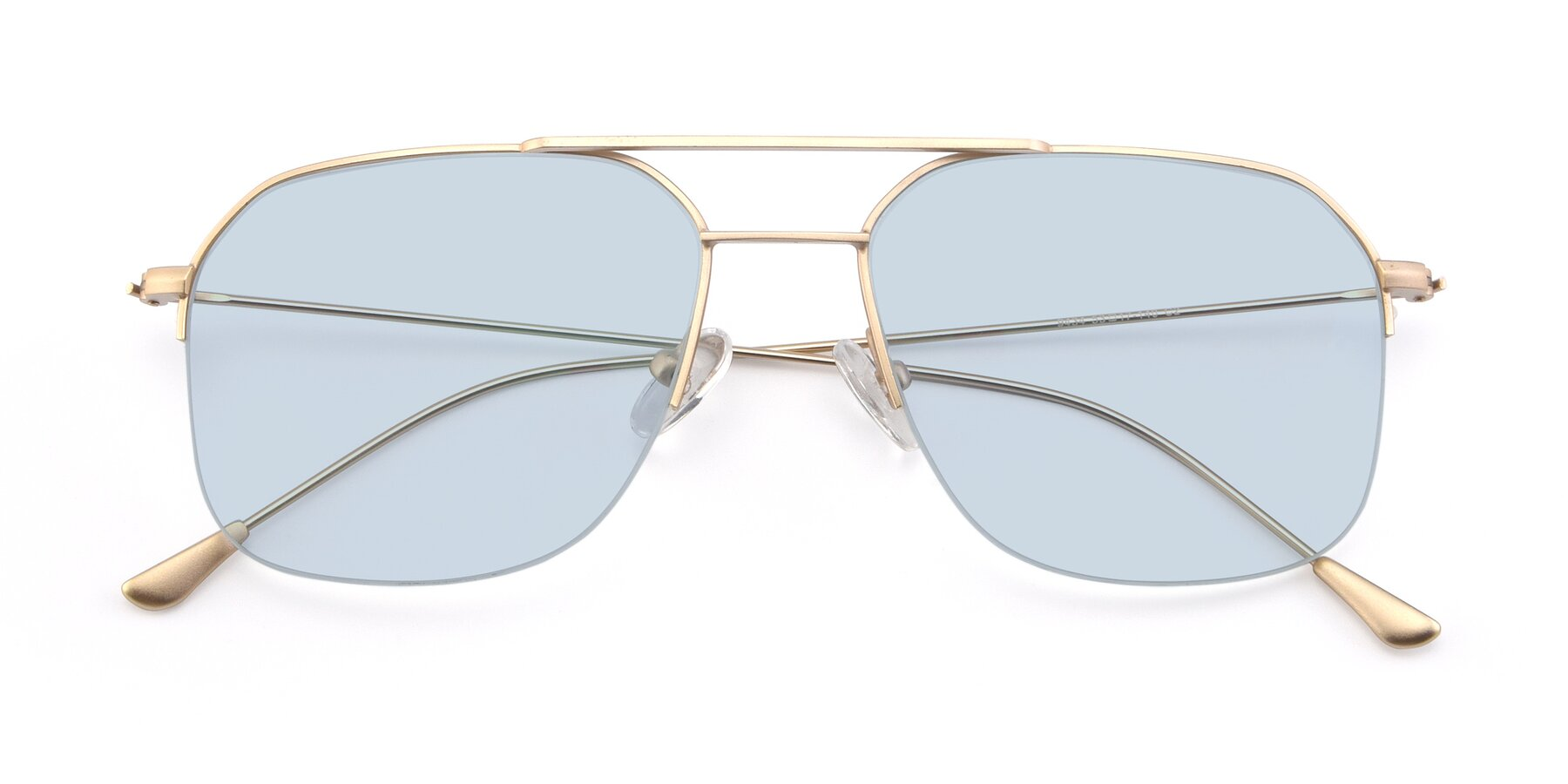 Folded Front of 9434 in Jet Gold with Light Blue Tinted Lenses