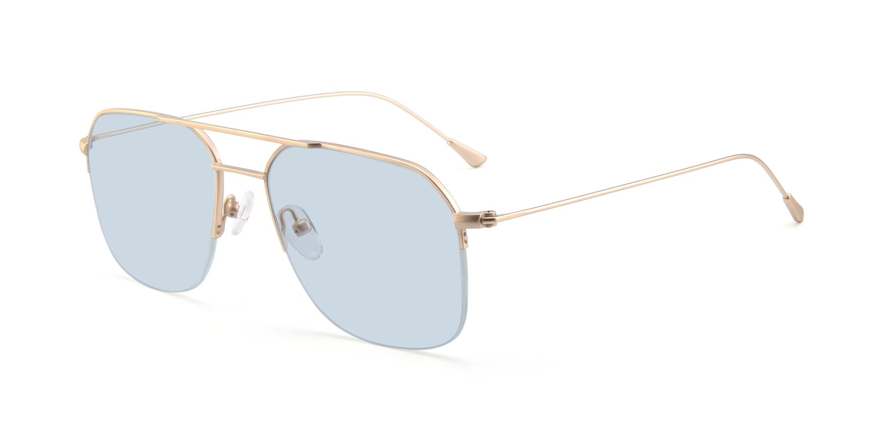 Angle of 9434 in Jet Gold with Light Blue Tinted Lenses