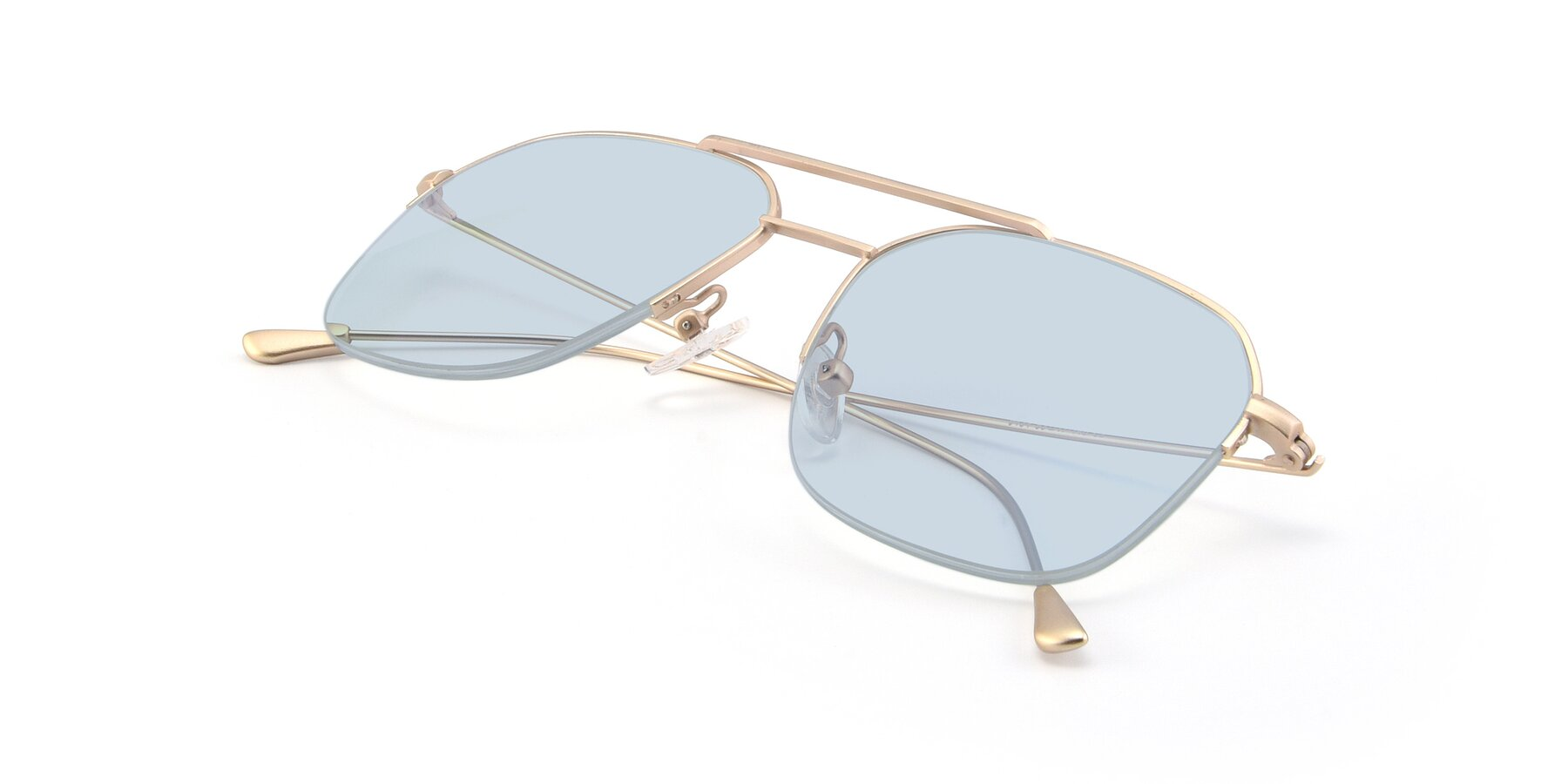 View of 9434 in Jet Gold with Light Blue Tinted Lenses