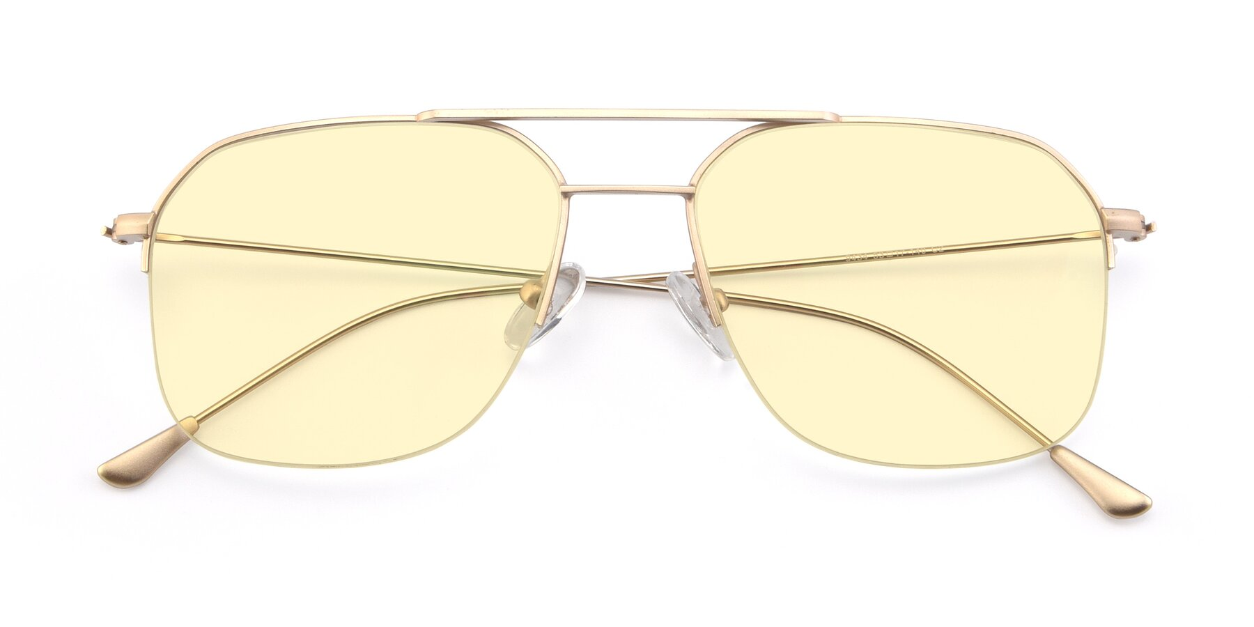 Folded Front of 9434 in Jet Gold with Light Yellow Tinted Lenses