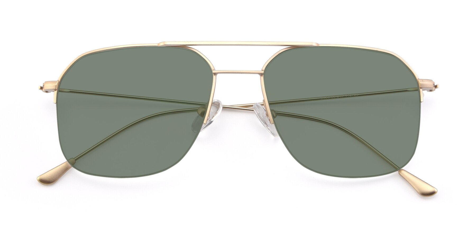 Folded Front of 9434 in Jet Gold with Medium Green Tinted Lenses