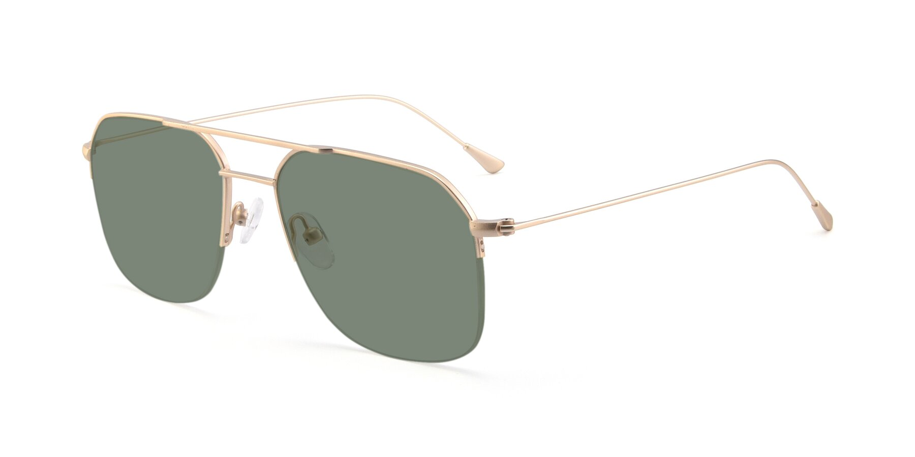 Angle of 9434 in Jet Gold with Medium Green Tinted Lenses