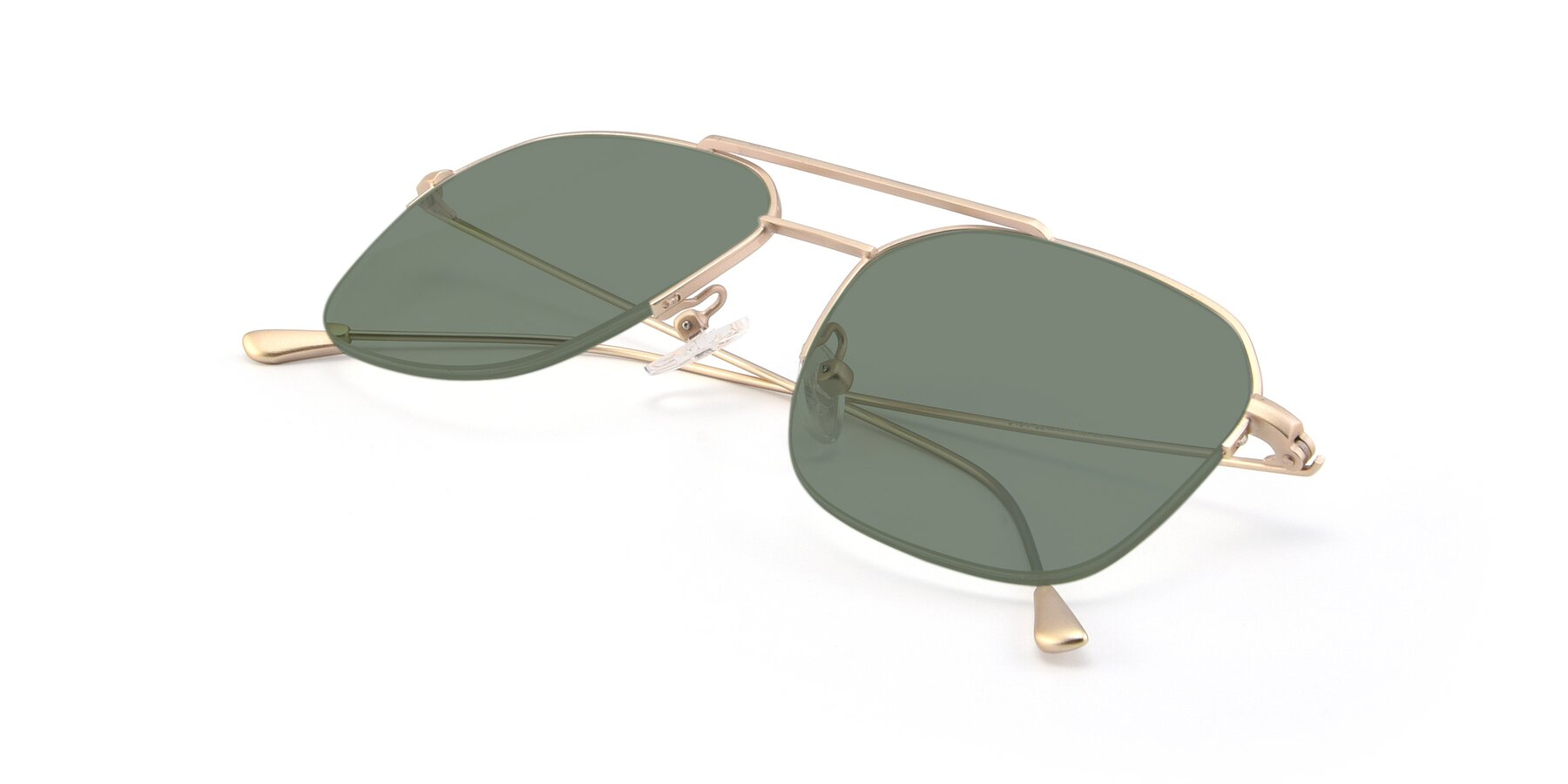 View of 9434 in Jet Gold with Medium Green Tinted Lenses