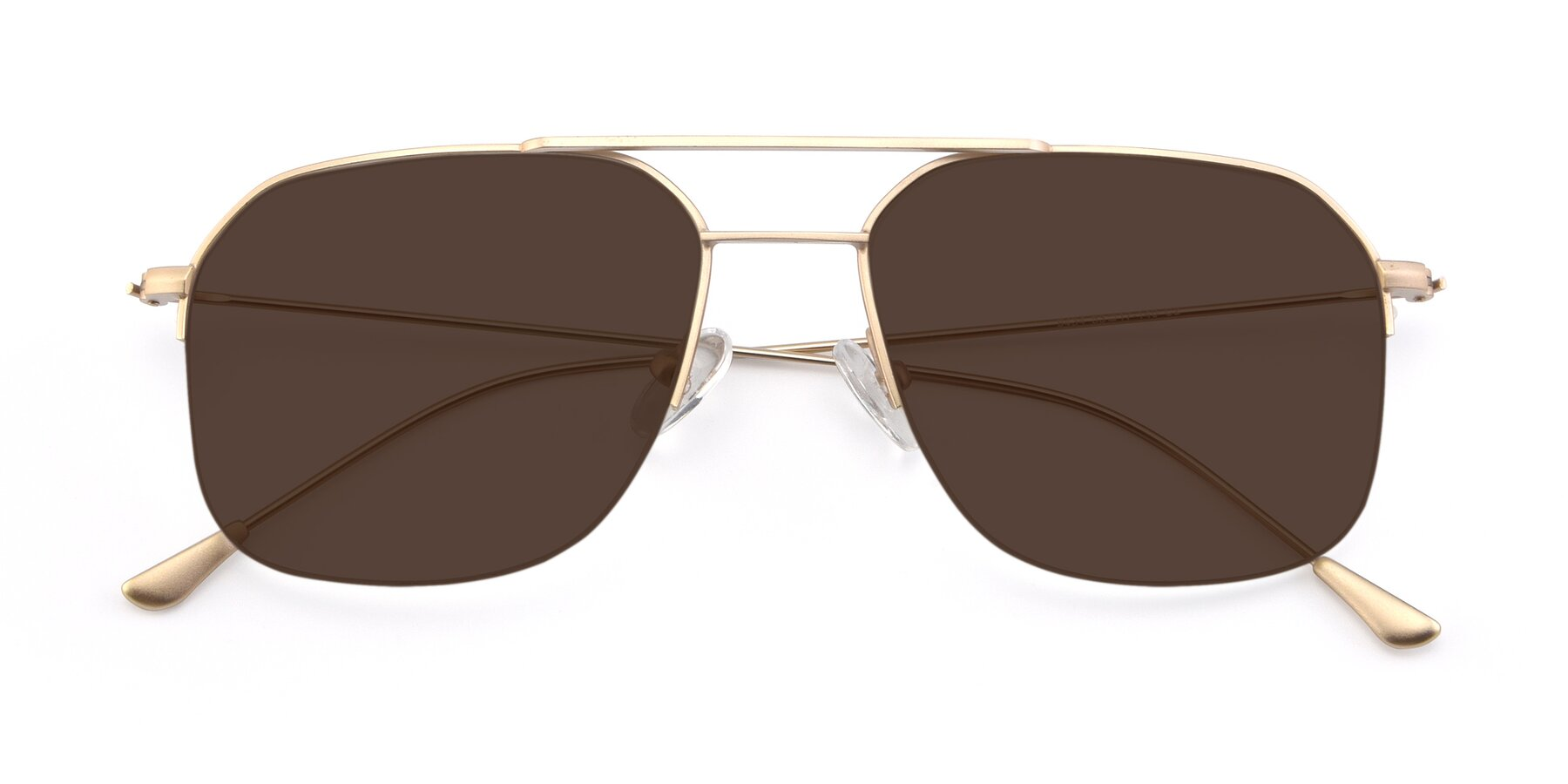 Folded Front of 9434 in Jet Gold with Brown Tinted Lenses