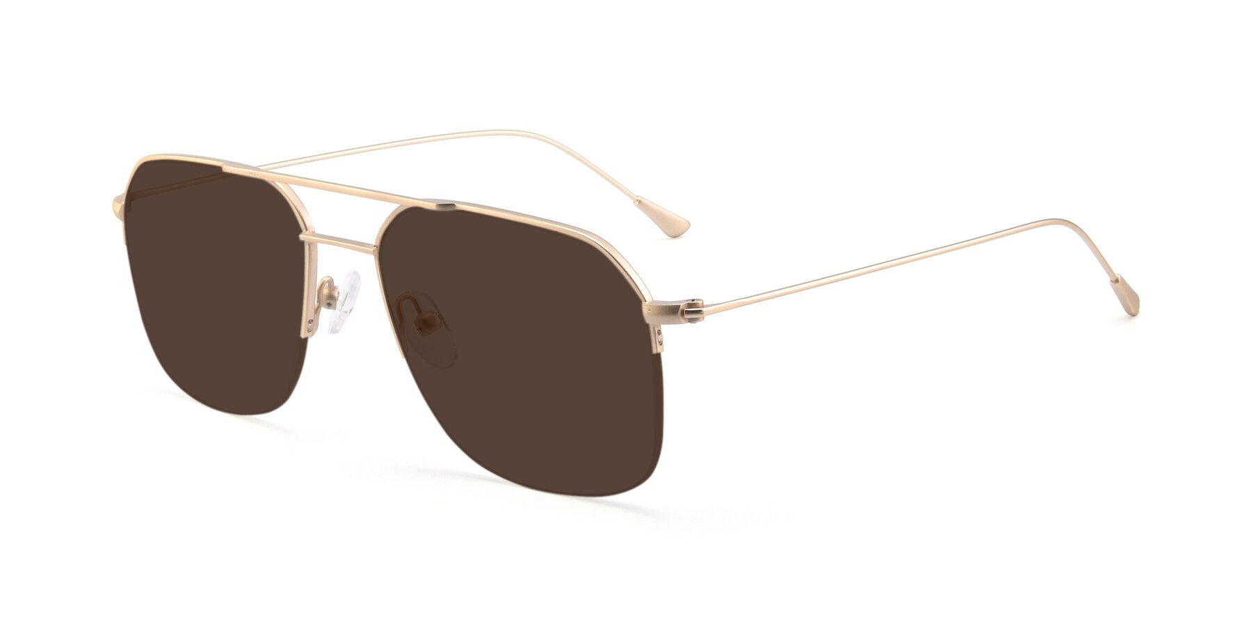 Angle of 9434 in Jet Gold with Brown Tinted Lenses