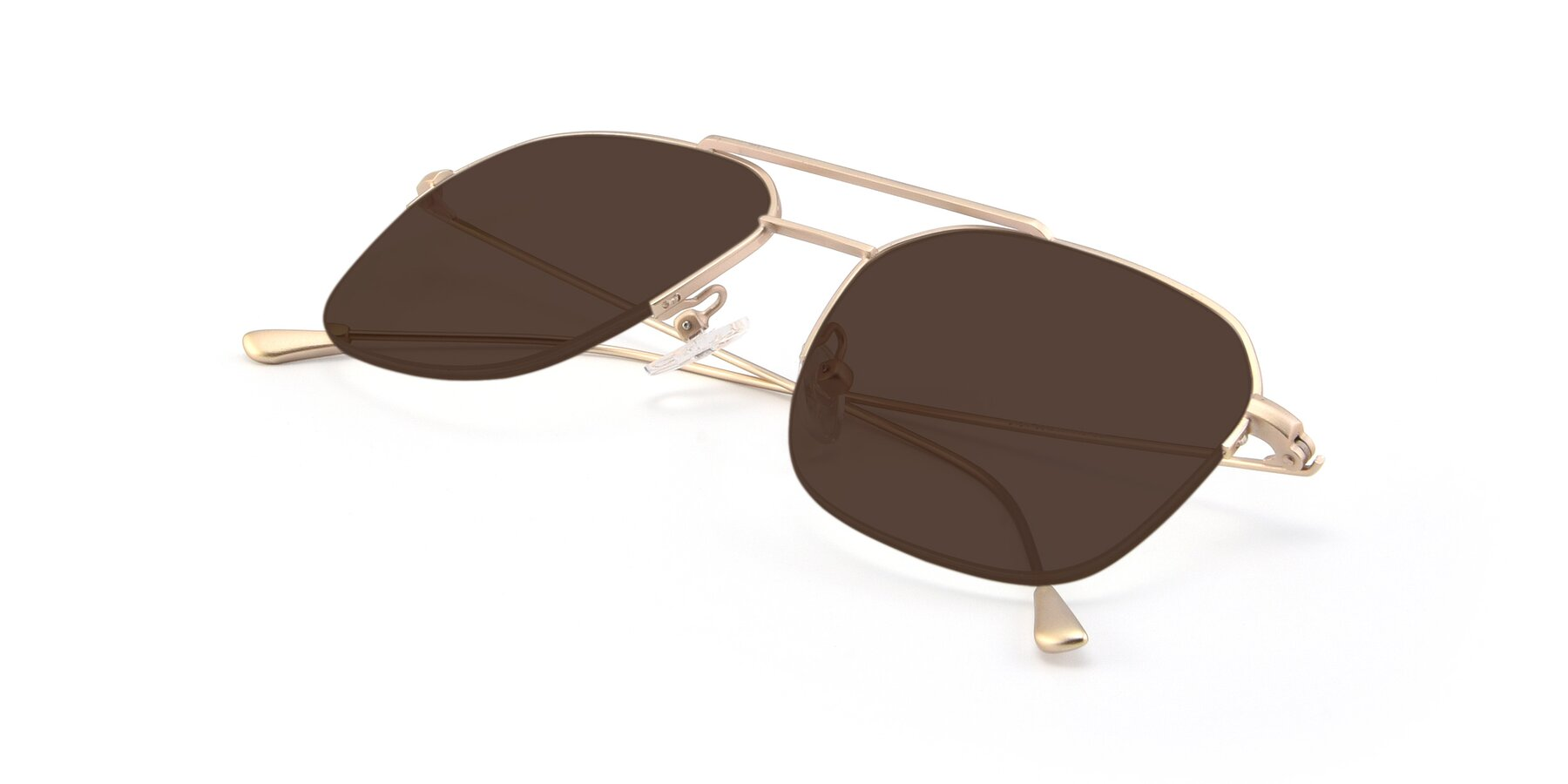 View of 9434 in Jet Gold with Brown Tinted Lenses
