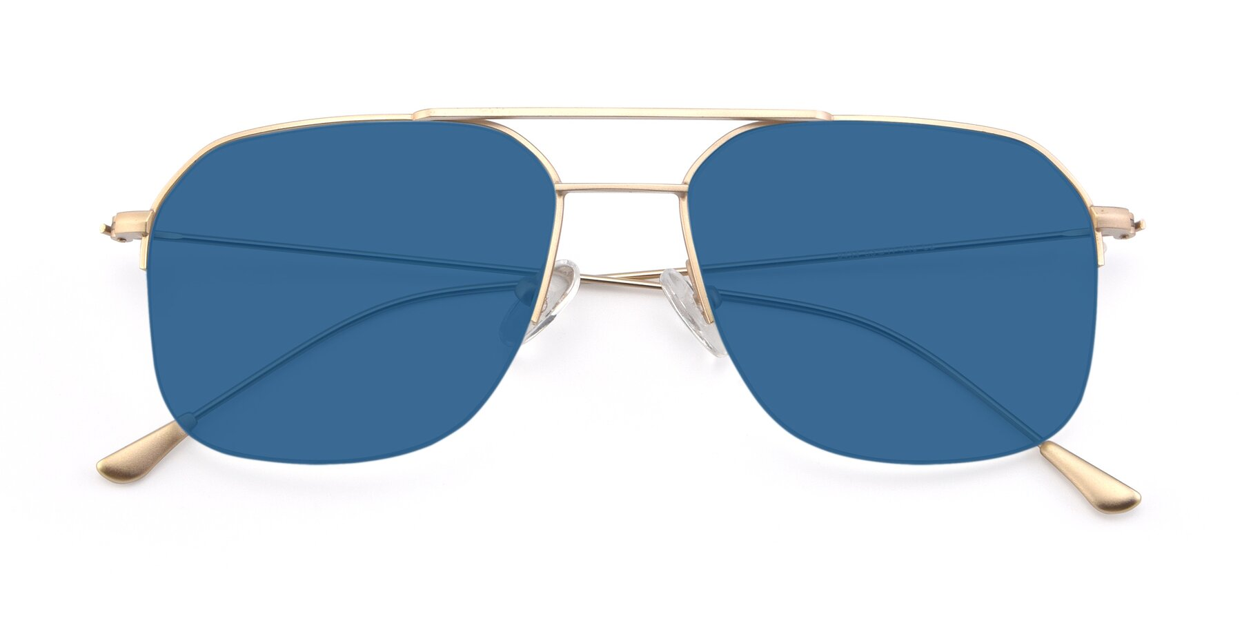Folded Front of 9434 in Jet Gold with Blue Tinted Lenses