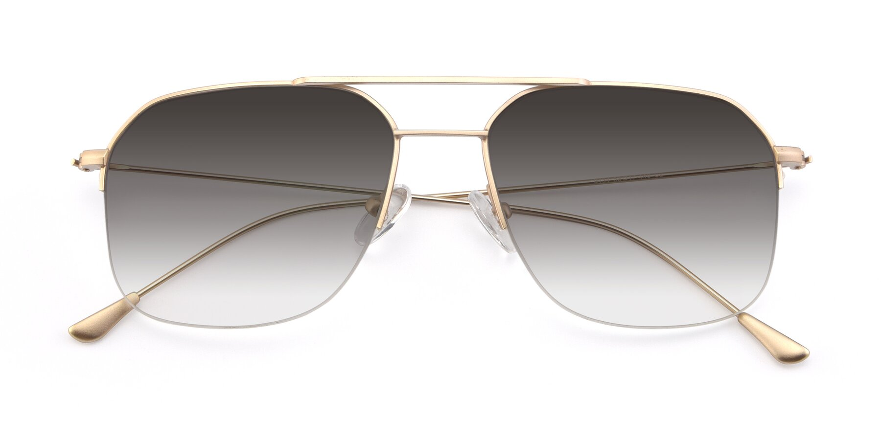 Folded Front of 9434 in Jet Gold with Gray Gradient Lenses