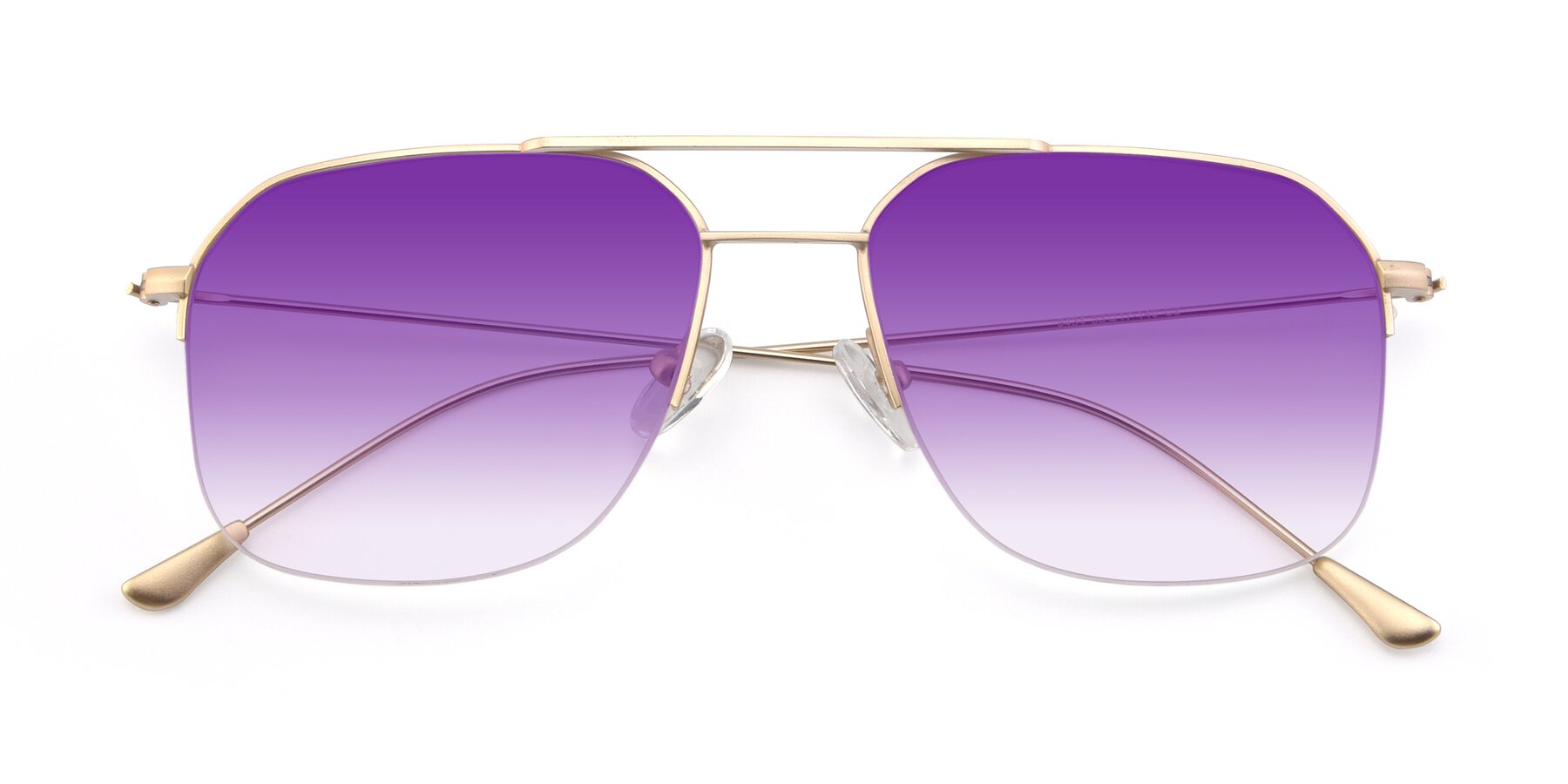Folded Front of 9434 in Jet Gold with Purple Gradient Lenses