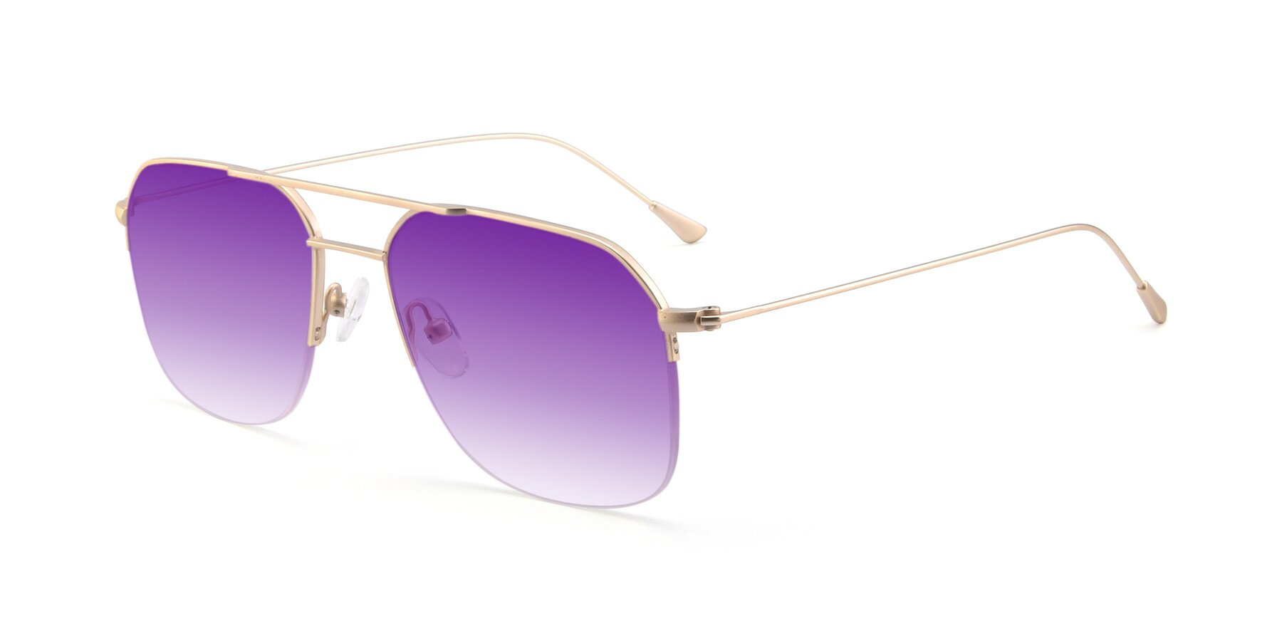 Angle of 9434 in Jet Gold with Purple Gradient Lenses
