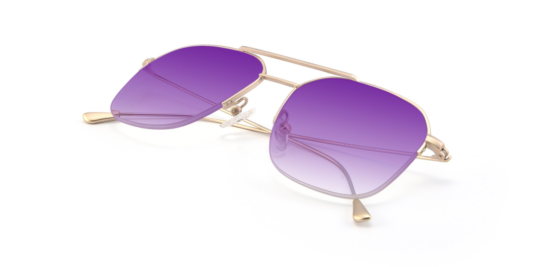 View of 9434 in Jet Gold with Purple Gradient Lenses