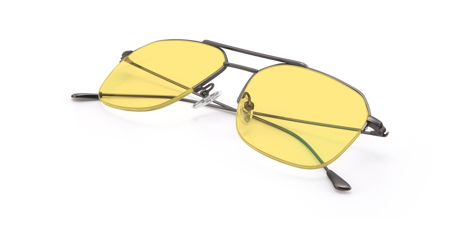 View of 9434 in Gun with Medium Yellow Tinted Lenses