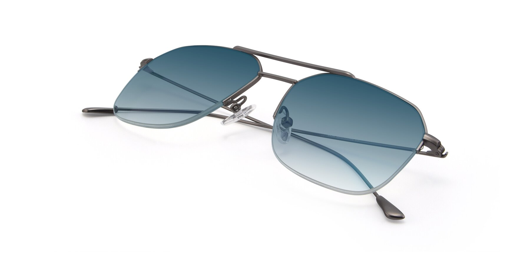 View of 9434 in Gun with Blue Gradient Lenses