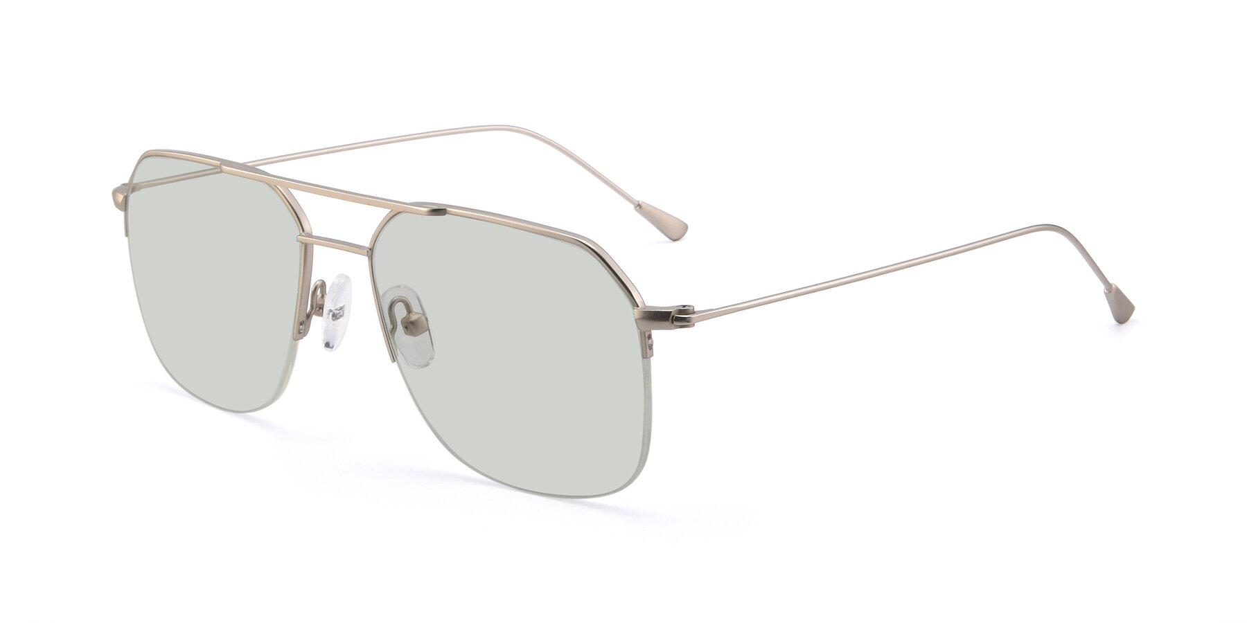 Angle of 9434 in Silver with Light Green Tinted Lenses