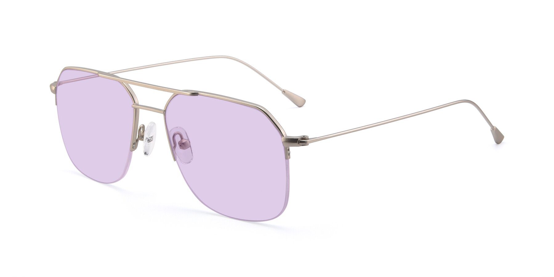 Angle of 9434 in Silver with Light Purple Tinted Lenses