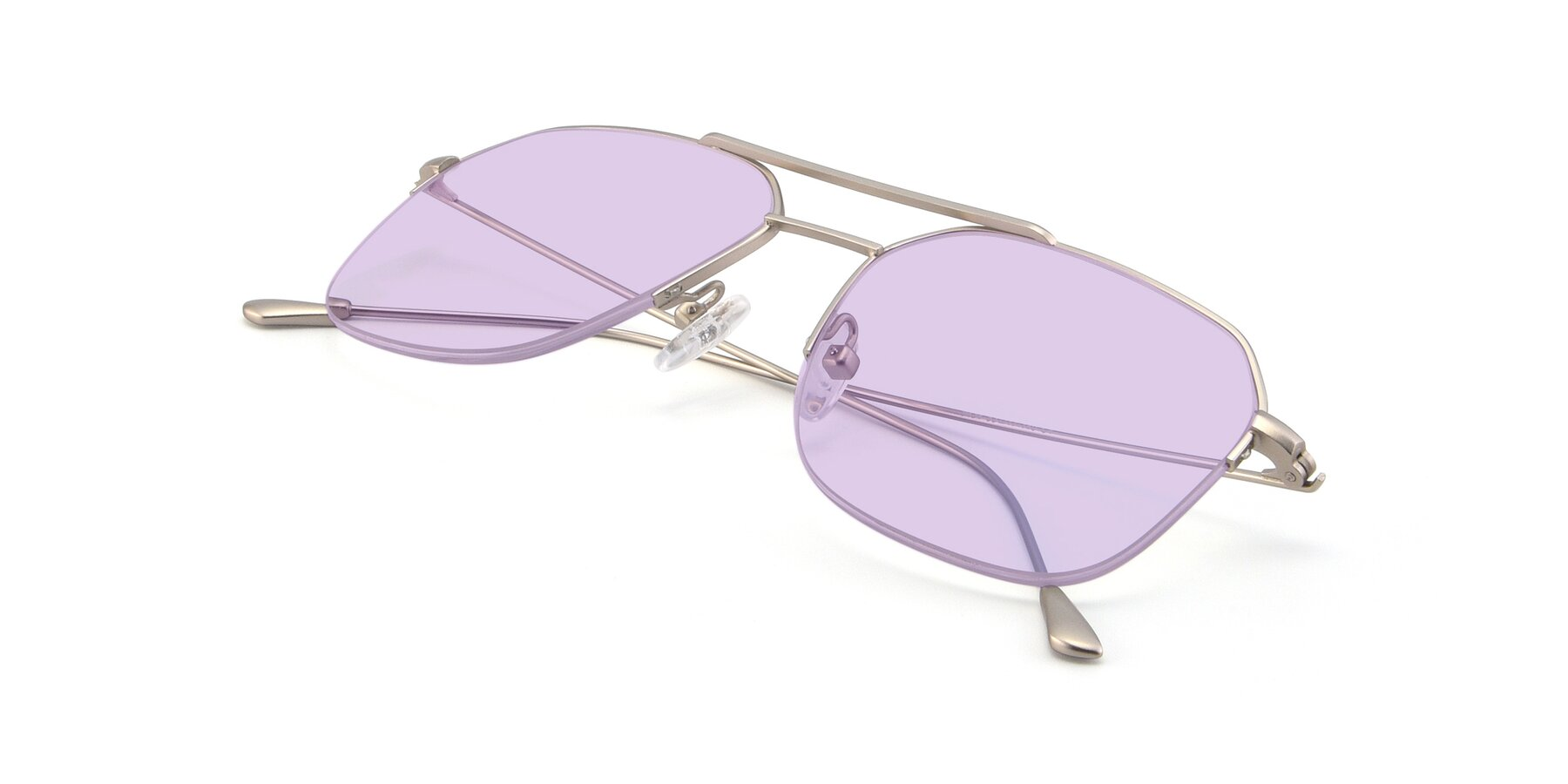 View of 9434 in Silver with Light Purple Tinted Lenses