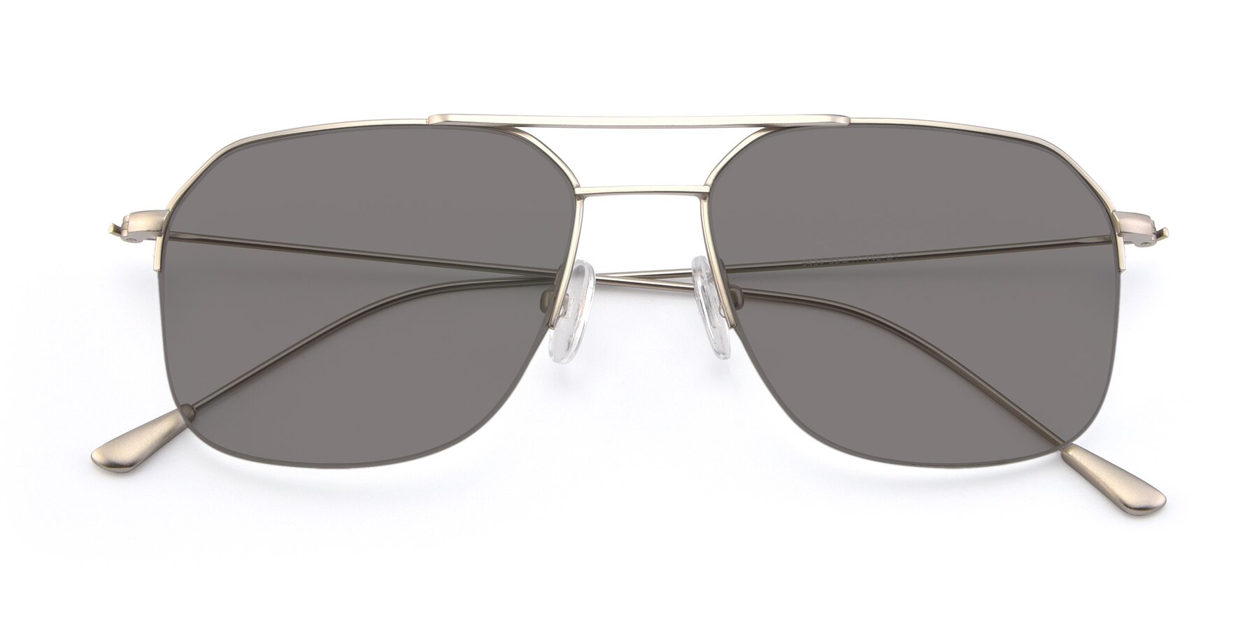 Folded Front of 9434 in Silver with Medium Gray Tinted Lenses