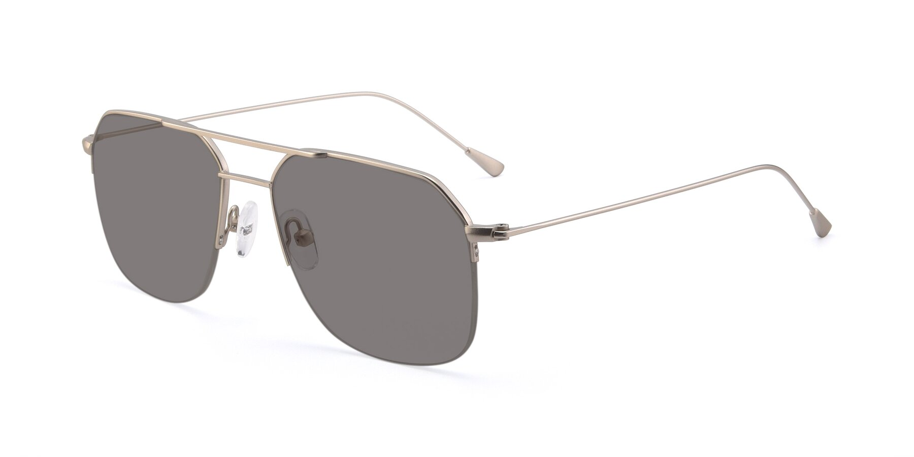 Angle of 9434 in Silver with Medium Gray Tinted Lenses