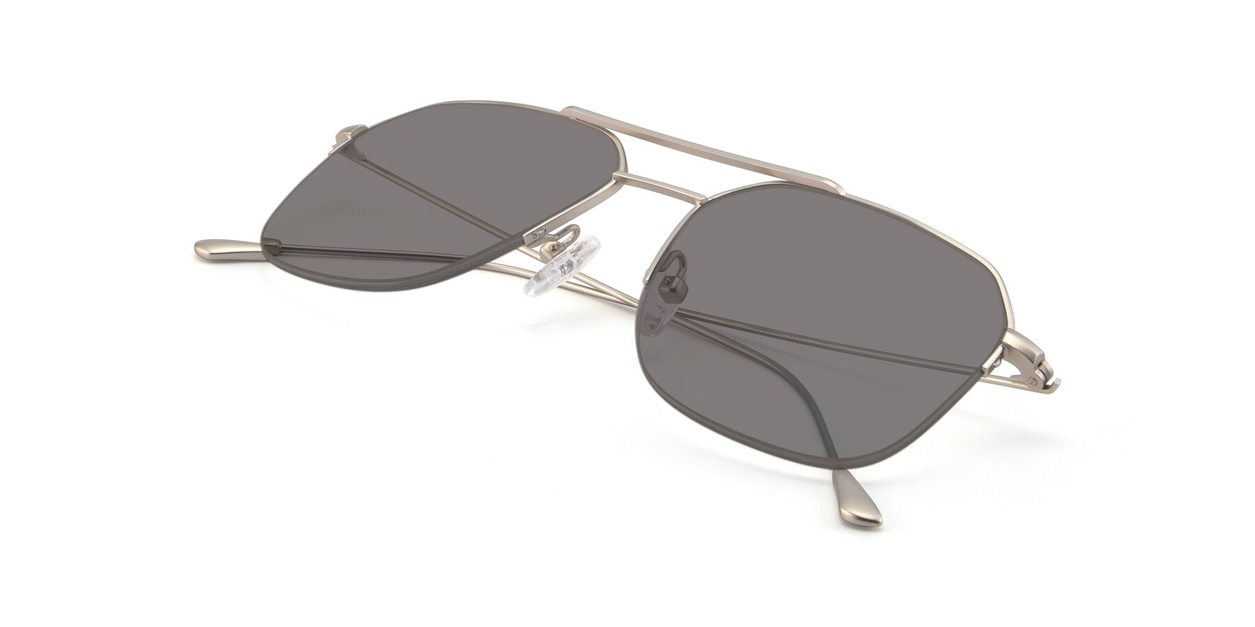 View of 9434 in Silver with Medium Gray Tinted Lenses