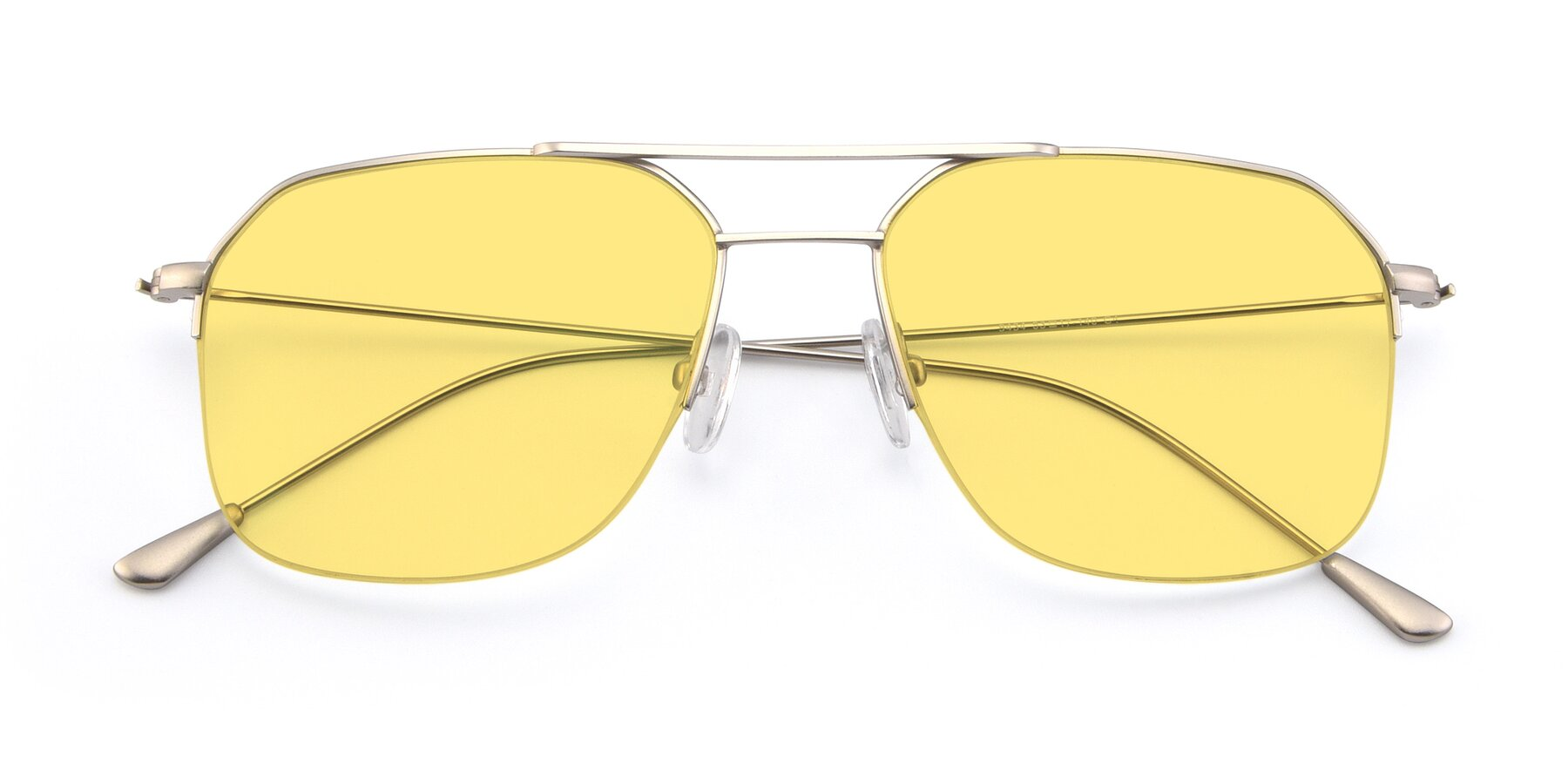 Folded Front of 9434 in Silver with Medium Yellow Tinted Lenses