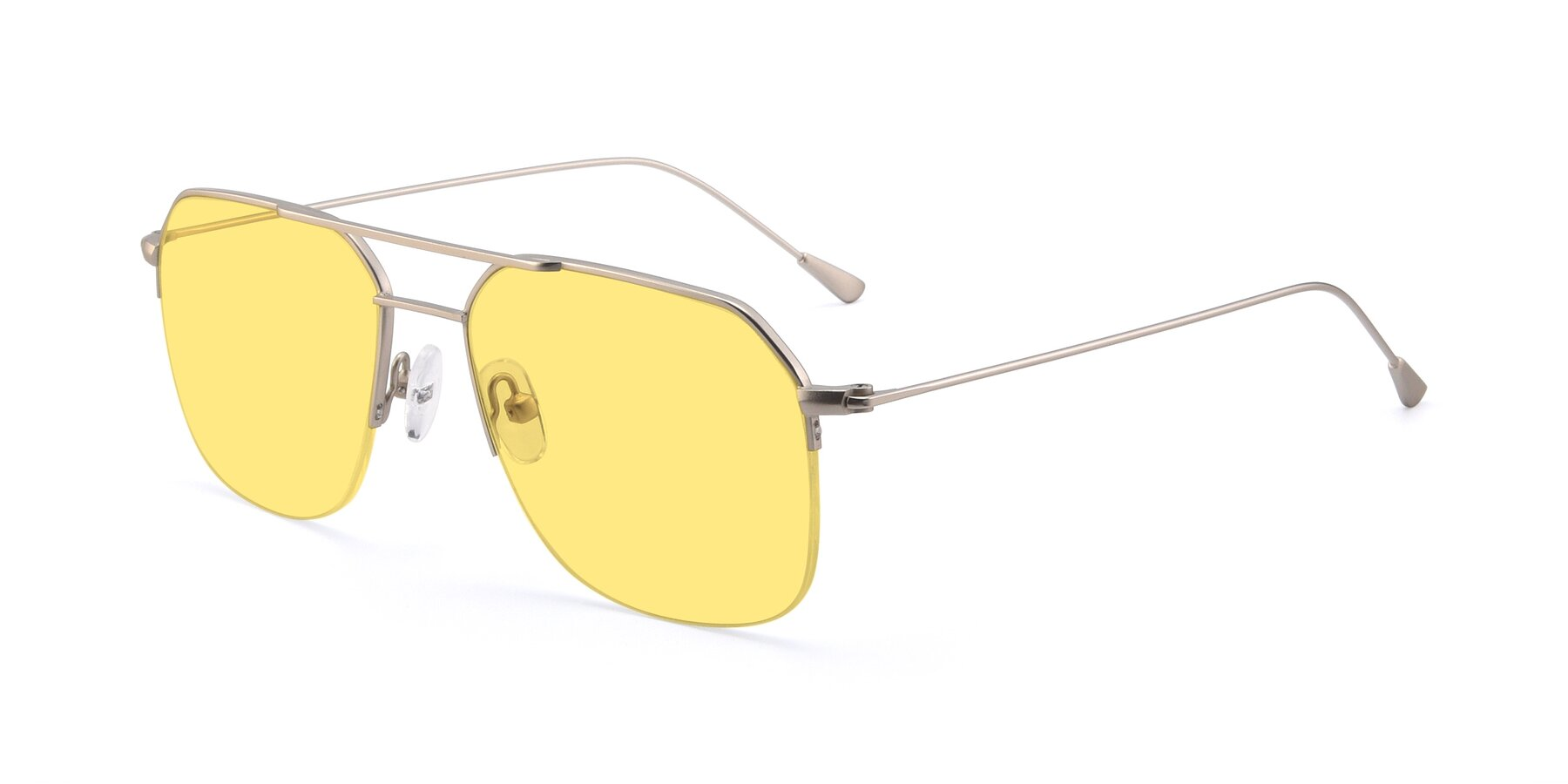 Angle of 9434 in Silver with Medium Yellow Tinted Lenses