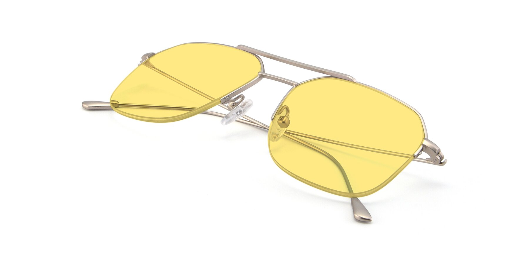 View of 9434 in Silver with Medium Yellow Tinted Lenses