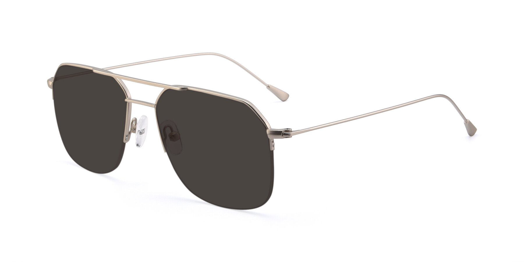 Angle of 9434 in Silver with Gray Tinted Lenses