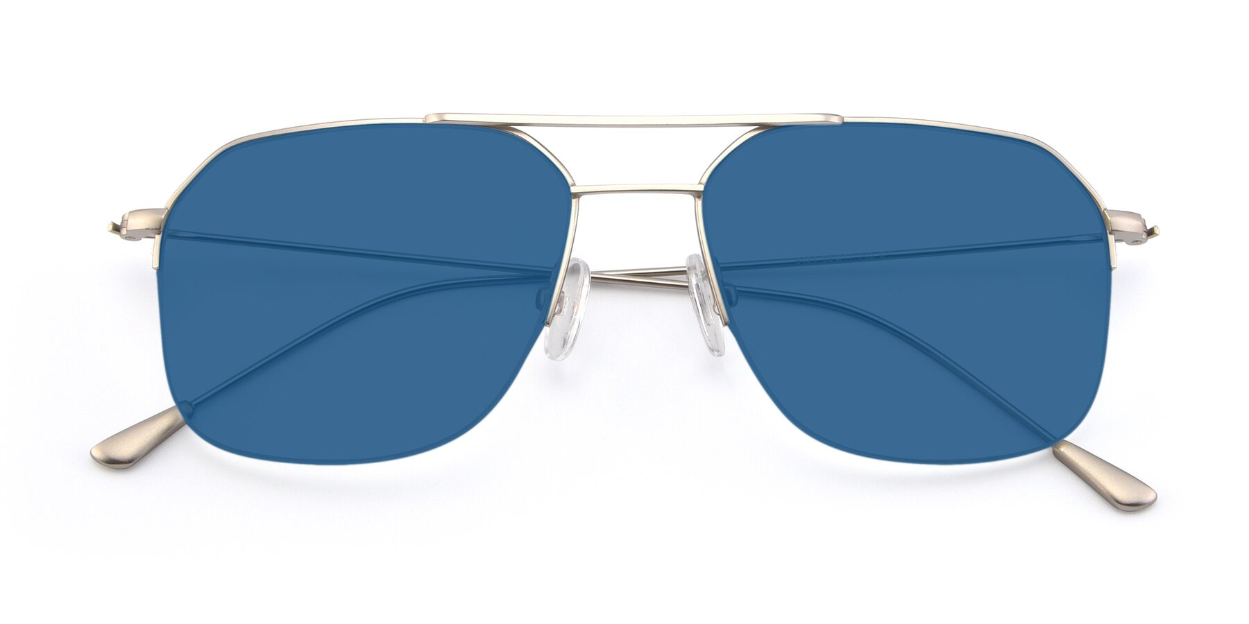 Folded Front of 9434 in Silver with Blue Tinted Lenses