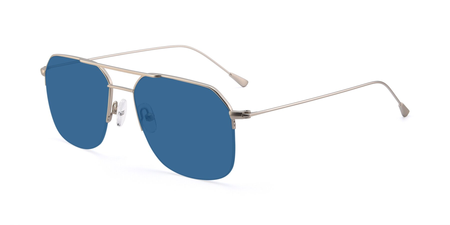 Angle of 9434 in Silver with Blue Tinted Lenses